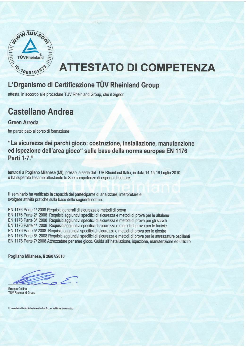 certificazione tuv
